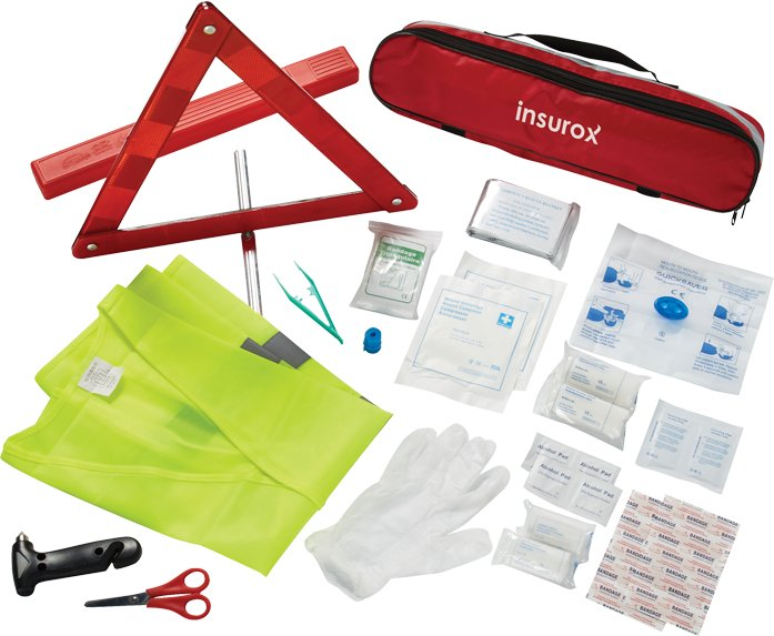 34 Pc Auto SafetyFirst Aid Kit, 3.75