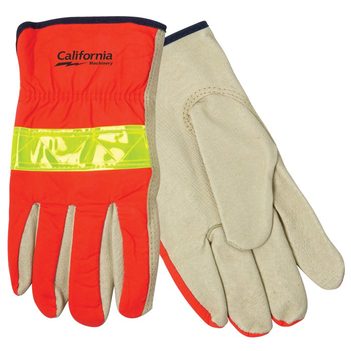 Hi-Viz Leather Driver's Glove, 0.75