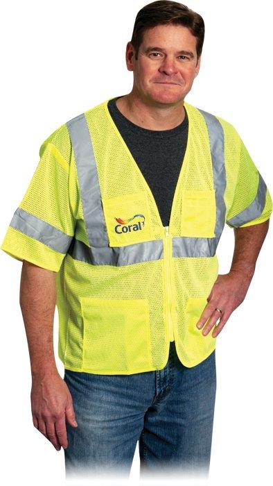 Value 4 Pocket Zipper Mesh Vest, 1