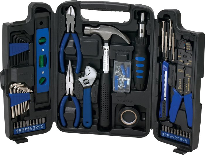 129 Pc. Deluxe Household Tool Set, 2.25