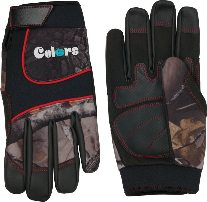 Synthetic Leather Palm Camo Glove, 9.5