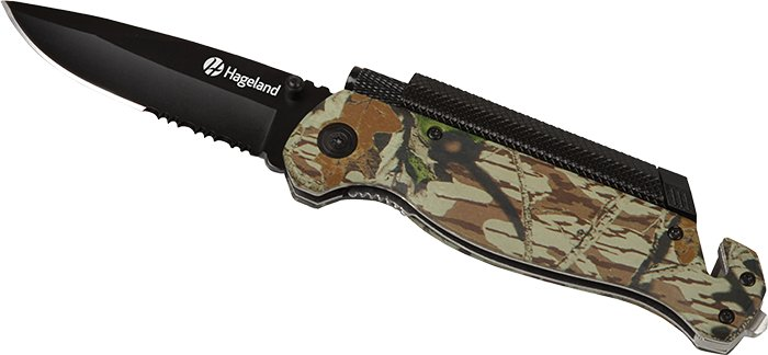 Camo Survival/Rescue Knife, 1.75