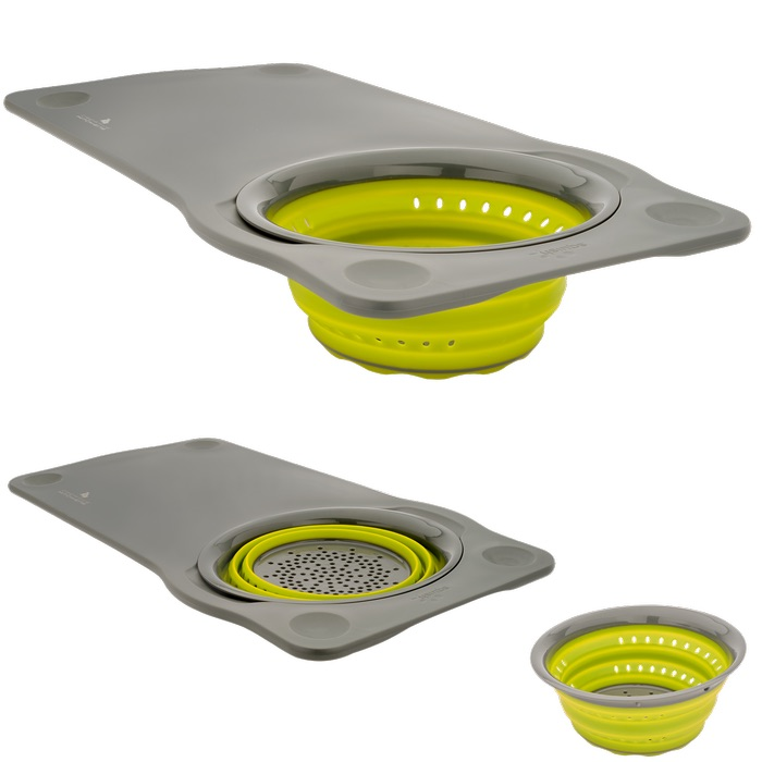 Squish Over the Sink Cutting Board with Colander, 1.125