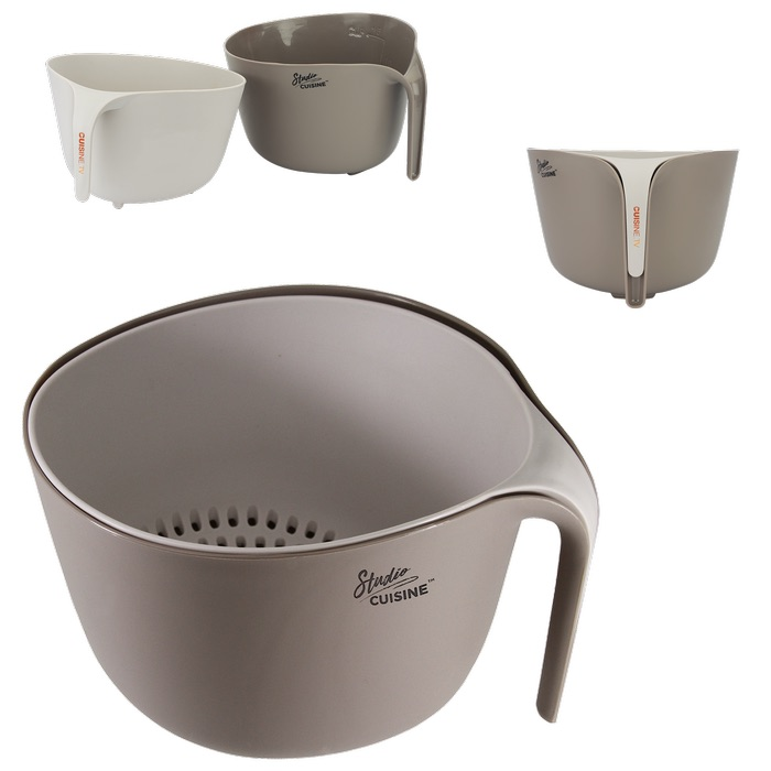 Studio Cuisine 2 Piece Colander/Bowl Set, 8.5