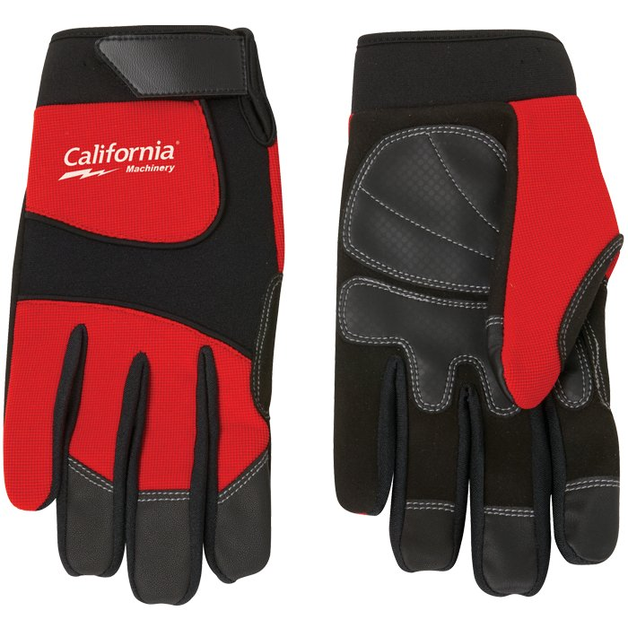 Synthetic Leather Palm Mechanic Style Glove, 9.25