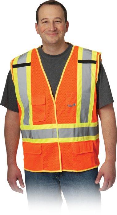 X-Back Breakaway Two-Tone Mesh Vest, 1