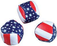 """Patriotic Kickball w/ Pellet Fill (2"""" Diameter)"""