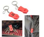 Custom 2 Pc Plastic Raptor Whistle with Key Chain and Zipper Ring
