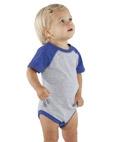 Custom Rabbit Skins Infant Vintage Fine Jersey Baseball Bodysuit