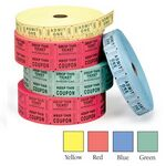 Custom Double Roll Tickets w/ Stock Imprint