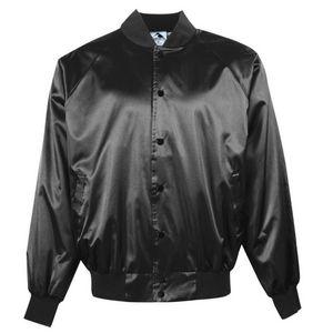 Custom Adult Satin Baseball Jacket w/Solid Trim