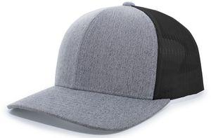 Custom Heather Trucker Snapback Cap