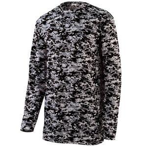 Custom Youth Digi Camo Wicking Long Sleeve T-Shirt