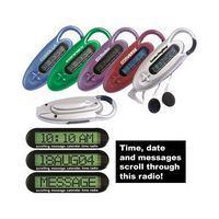 Scrolling Message Carabiner Clock Radio