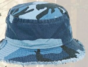 2968b061401 Frayed Camo Bucket Hat -  204 - Brilliant Promotional Products