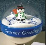 Custom Snow Globe Sandvertiser Paper Weights