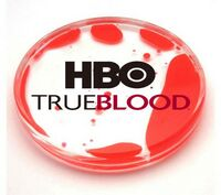 Acrylic Liquid Filled Coaster - Red/Clear