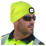 Aware Wear® Hi-Viz Lime LED Rechargeable Knit Hat