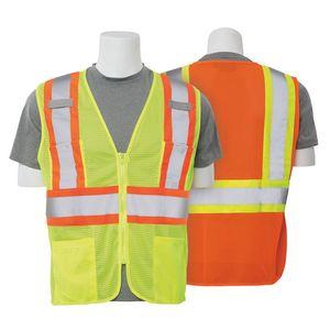 S383P Aware Wear ANSI Class 2 Hi Viz Mesh w/Contrasting Trim Safety Vest
