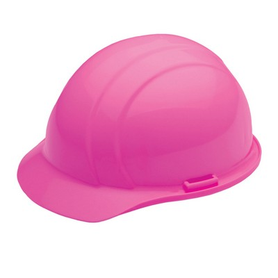 Americana Cap Hard Hat w/ Mega Ratchet 4 Point Suspension - Hi Viz Pink
