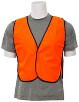S19 Aware Wear® Non ANSI Tight Weave Mesh Orange Vest w/ Hook & Loop