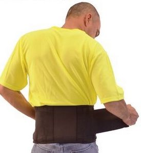 Economy Back Support Brace with Suspenders (Medium 33-37)