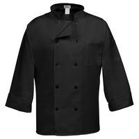 Fame® Traditional Black Long Sleeve Classic Chef Coat