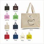 Custom Q-Tees Canvas Gusset Tote Bag
