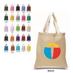 Custom 1 Color printed Q-Tees Economical Tote Bag