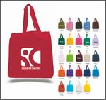 Custom Q-Tees Economical Tote Bag w/ Bottom Gusset