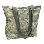Custom Q-Tees Digital Camo Tote Bag W/ Zipper