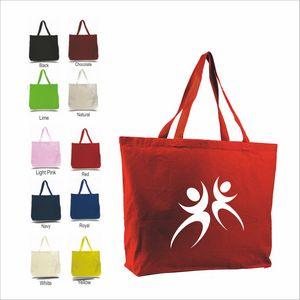 Q-Tees Canvas Jumbo Tote Bag - Q600 - IdeaStage Promotional Products 1feea9836d2fa