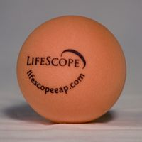 Orange Round foam Stress Ball