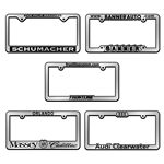 Custom Chrome Faced License Plate Frame