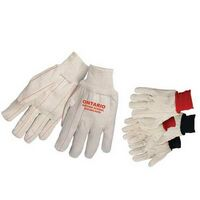 Double Palm Canvas Gloves w/ Natural Wrist