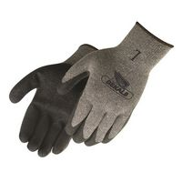 Gray Shell Black Textured Latex Palm Coated Gloves
