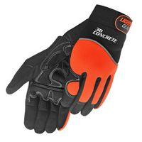 Hi-Viz Simulated Leather Mechanic Gloves
