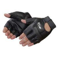 Fingerless Black Grain Goatskin Gloves
