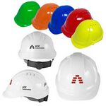 Custom Vented Cap Style Hard Hat w/ 6 Point Ratchet Suspension