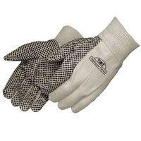 8 Oz. Canvas Work Gloves w/ PVC Dots