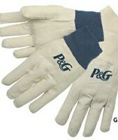 Canvas Gloves w/ Natural Knit Wrist