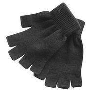 Black Stretchable Fingerless Gloves