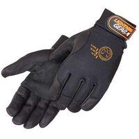 Premium Black Grain Goatskin Mechanic Gloves w/ Leather Palm