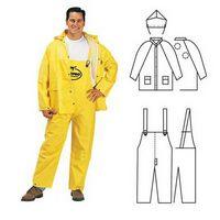 PVC Polyester 3 Piece Yellow Rainsuit