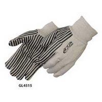 10 Oz. Canvas Work Gloves w/ Black PVC Stripes