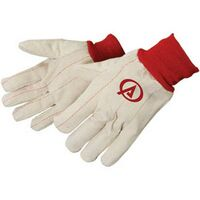 Double Palm Canvas Gloves w/ Red Wrist