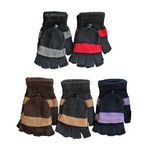 Custom Assorted Color Convertible Fingerless Gloves/Mittens