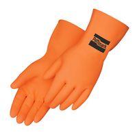 Orange Neoprene/Latex Unsupported Flock Lined Glove