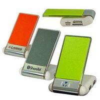 Foldable Mobile Phone Holder W/USB Hub/Card Reader