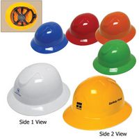 Full Brim Hard Hat W/6 Point Ratchet Suspension